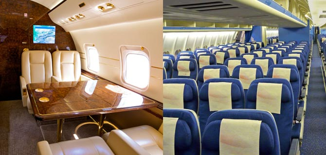 Top 10 Differences Between Flying Commercial Airline vs Private jet